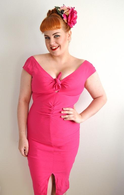 "3fcfcbea5ac Me wearing the Rago 6207 High-Waist Leg Shaper with my Pinup Girl Clothing  ""Niagara"" dress in size Medium."