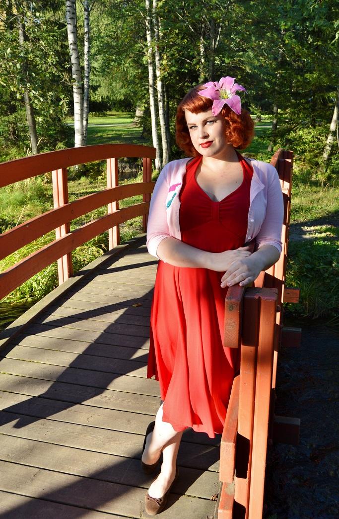 Red dress effect krotka
